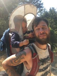 jackwithfloweranddannyhiking